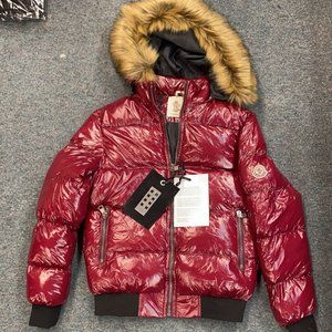 DSQUARED RED GLOSSY WIDE SIZE MEN'S INFLATABLE JACKET